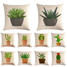 JAYQUERING 2019 New Cactus Plant White Decorative Pillowcase Personality Fashion Simple Exquisite Pillowcase Bedding Set ZMA024(China)
