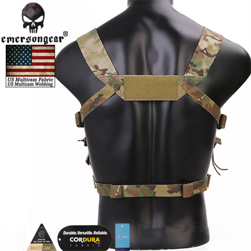 Emerson Chassis MK3 Mini Tactical Chest Rig Spiritus Airsoft Hunting Vest Ranger Green Military Tactical Vest w/ Magazine Pouch