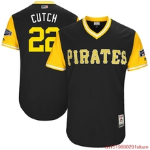 "MLB Men's Pittsburgh Pirates Andrew McCutchen ""Cutch"" Baseball Black 2017 Players Weekend Authentic Jersey(China)"