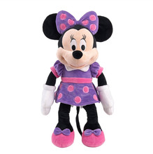 Original Minnie Plush Toy Purple Stuffed Animals 48cm 19'' Peluche Minnie Mickey Pelucia Kids Toys for Children Girls Gift