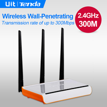 Tenda W304R v3/v5 300Mbps Wireless WiFi Router, 3 Antenna 5dbi Home Wi-Fi Repeater, 4 Ports RJ45 802.11g/b/n, English Firmware