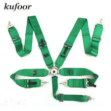 Kufoor 2017 3 inch 5 point Quick Release Green Racing Safety Belts/Seatbelts/Harness(China)