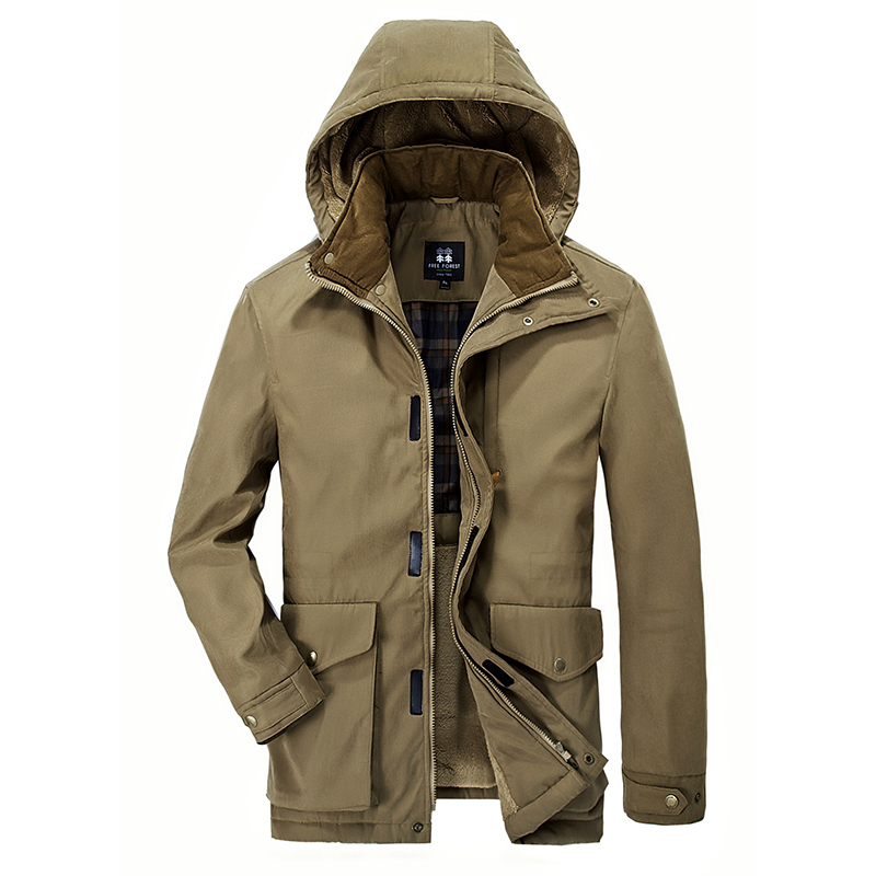 L-7XL Hot Sale Long Winter Men Clothing Outwear Casual Jacket And Cotton Parkas Male Big Coat code The high quality