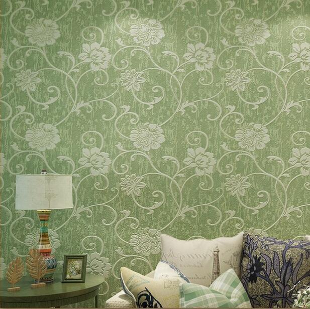 america country blue flower wallpaper wall paper 3d papel de parede branco<br>