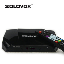 2016 New Arrival 2PC Genuine SOLOVOX V9 Satellite Receiver/ TV Box Support YOUTUBE/DLNA 2 USB IPTV 3G modem(China)