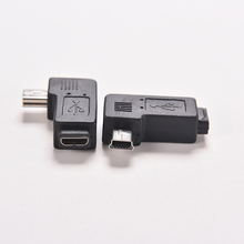 New 1PC 4 Type Black Micro Mini USB Female to Mini Micro USB Male Adapter Charger Connector Straight L Shape Converter Adaptor(China)