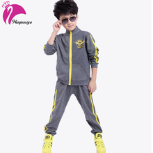 Sports Suit For A Boys 2017 Baby Boys Hoodied Costume For Boy Set Korean Fashion Children's Clothing Tracksuits(China)