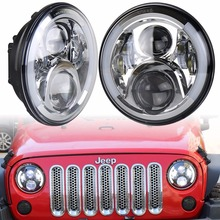 Wrangler Headlights 7 Inch Round LED Headlight Conversion Kit DLR Light Assembly For JK TJ FJ Hummer Motorcycle Defender