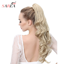 SARLA 50Pcs/Lot Synthetic Ponytail Dual Use Hair Extension High Temperature Fiber Claw In Pony Tail P006