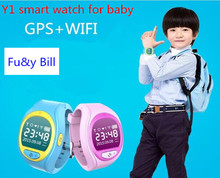 Y1 GPS+WIFI mobile phone APP positioning children SOS smart watches PK Q80 Q90 VK7 Q50 Q60