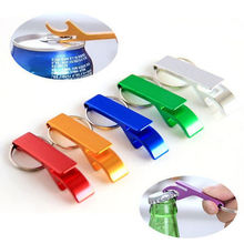 High Quality Mini Key Chain Aluminum Beer Opener Key Ring Chain Drink Glass Bottel Opener 1pcs(China)