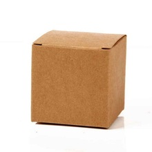 6x6x6cm Kraft Paper Card Favor Boxes Gift Boxes Kraft Boxes For Party 50pcs(China)