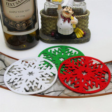 Happy Sale  2PC Christmas Coffee Table Water Snowflake Coaster Insulation Pad Coaster Doily Nov16