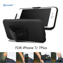 Belt Clip Cover for iphone 7 Plus Case for iPhone 6S Plus Cover Holster Slide 2 in 1 Phone Cases Swivel Holder Stand Shield(China)