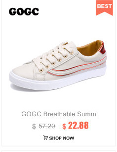 GOGC 2018 White Women Sneakers Breathable Soft Ladies Leather Shoes Autunm Casual Slip on Women Shoes Causal Shoes Slipony Women
