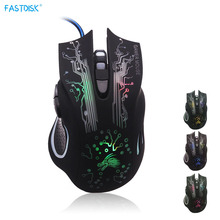 Wired Gaming Mouse 6 Buttons Professional PC Laptop Computer Mouse Gamer Mice Changeable Light 5000dpi USB Optical Mouse(China)
