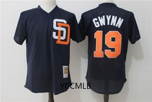 MLB Men's San Diego Padres 19 Gwynn Navy 2017 Throwback Cooperstown Batting Practice Baseball Jersey Free Shipping(China)
