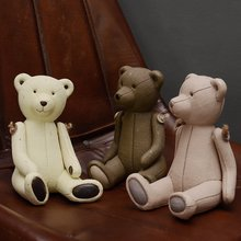 2017 Rushed Top Fashion Home Furnishing Ornament Rather A Living Product Children House Model Little Bear Furniture For Display(China)