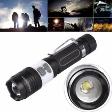New Durable Zoomable High Light LED Flashlight Torch Super Bright Light USB