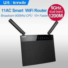 Tenda AC9 1200M Smart Dual-Band 2.4G/5.0GHz AC Wireless WIFi Router, Wireless Wi-Fi Repeater,APP Manage, Mutil language Firmware