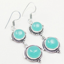 Chalcedony   Earring, 60 mm, E0485