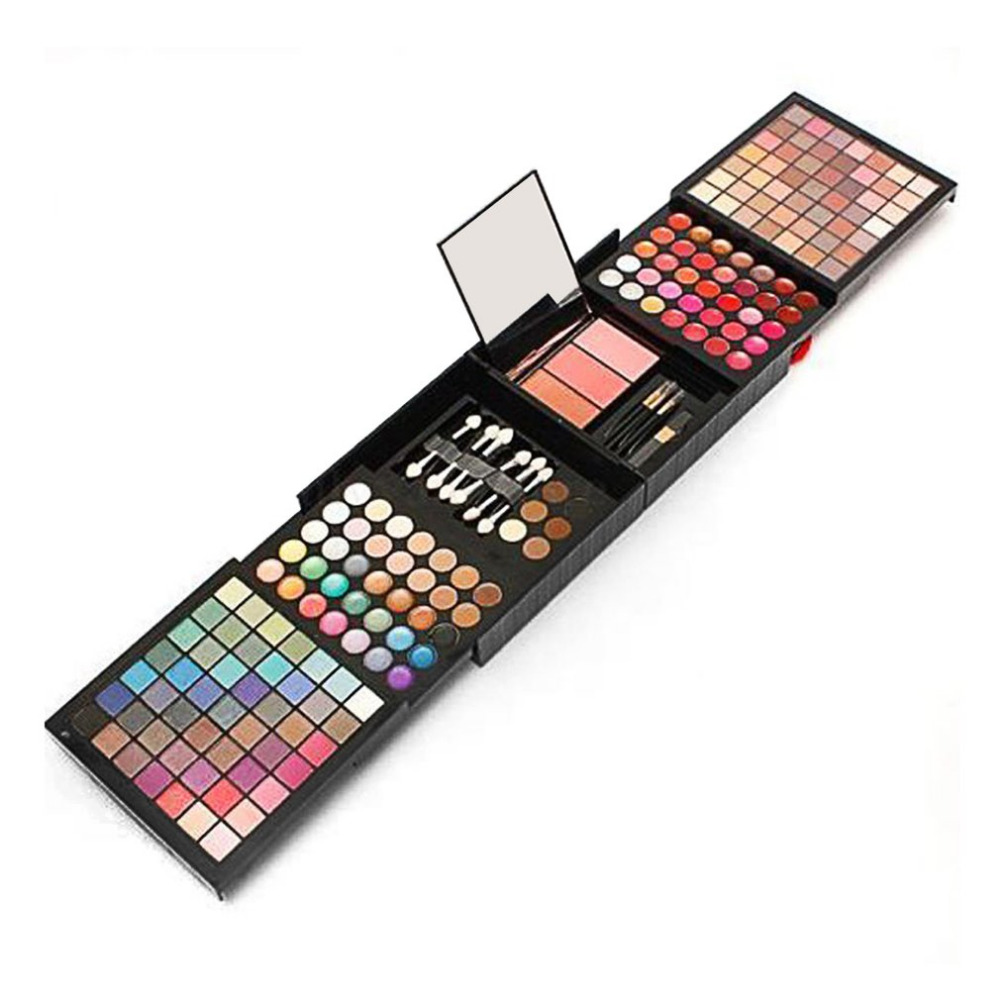 177 Colors Eyeshadow Combination Palette Makeup Set Big Kit Matte Shimmer Beauty Cosmetic Professional Pigmented With Brushes<br>