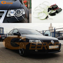 For Volkswagen VW Passat B6 Magotan 2006-2010 Xenon Headlight Excellent Ultra bright illumination CCFL Angel Eyes kit Halo Ring