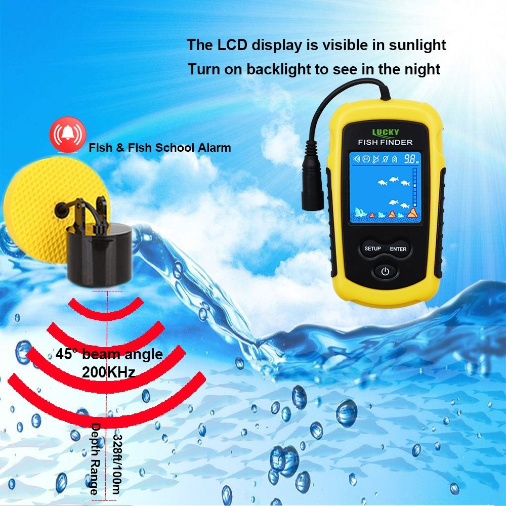 Upgraded Fishfinder wireless Sonar fish finder Fish Alarm Portable Sonar sensor Fishing lure Echo Sounder findfish (1)