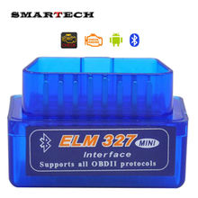 SMARTECH Android Car GPS accessory OBD2 ver 2.1 ELM327 Bluetooth Auto Diagnostic Tool Scanner(China)