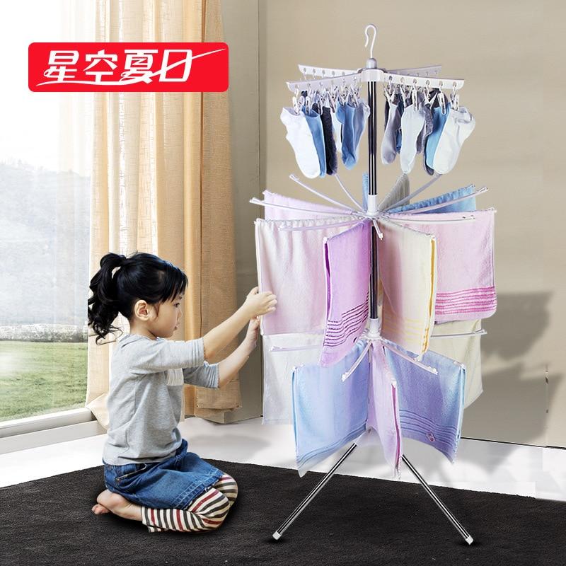 Многофункциональная стойка для просушки одежды, сворачивающая почту пакета сушилки для белья стоек Из нержавеющей стали