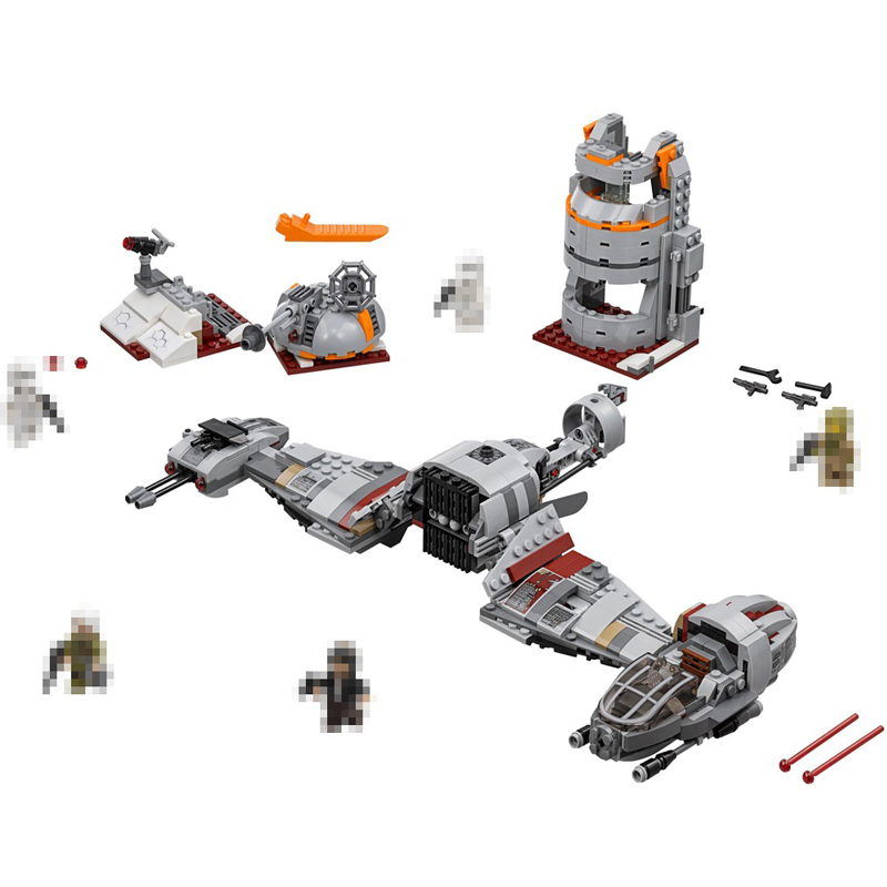 Lepin 05141 836pcs Star Wars Defense of Aircraft Model  Cassic  Movie Figure  Educational Toys Compatible 75202 for Kids Gifts<br>