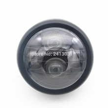 "MOTOWOLF Black Motorcycle Accessories Projector Daymaker LED 6 1/2"" Head Light Lamp For Harley Bobber Chopper"