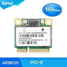 Laptop Network Wlan Adapter Atheros AR5B125 Wireless 802.11n 150Mbps Wifi Half Mini PCI-E Card For Asus Dell Acer Toshiba