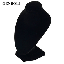 GENBOLI 10*15cm Durable Black Mannequin Necklace Jewelry Pendant Display Stand Holder Show Decorate Bracelet Jewelry Organizer