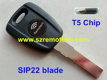 Blick 5pcs/lot Free Shipping Replacement Transponder Key With T5 Chip SIP22 Blade Fit For Fiat Bravo Punto Ducato Daily Scudo