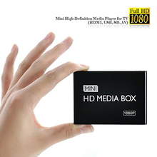 New mini Media Player 1080P Full HD multimedia player with IR remote support MKV/RM-SD/USB/SDHC/MMC HDD-HDMI(BOXCHIP F10)(China)