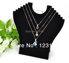 Free Shipping! Hight Quality Wholesale 2pcs New Black Velvet Necklace Easel Showcase Holder Jewelry Display Stand ,JDB-2