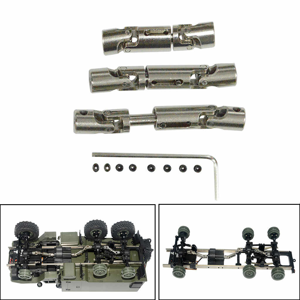 3pcs Upgrade Part Silver Metal Drive Shaft For WPL B-36 B-16 6WD 1//16 RC Car UK