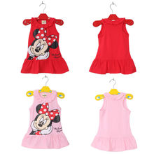 New Kids Baby Girls Cute Minnie minie Mouse Toddler Clothes Summer Dress
