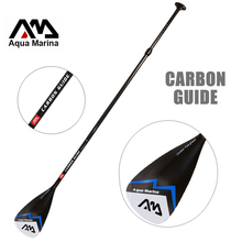 paddle CARBON GUIDE AQUA MARINA fibergalss paddle SUP stand up paddle board for surfing boards adjustable 180-210cm oar T handle(China)