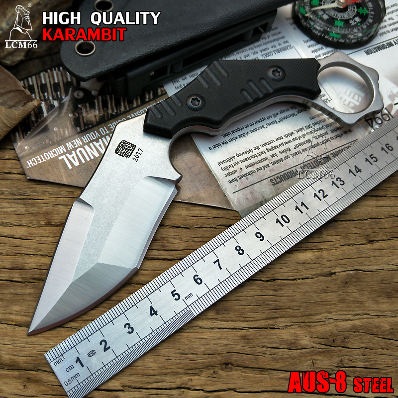 LCM66 tactical karambit scorpion claw knife outdoor camping jungle survival battle Fixed blade hunting knives self defense AUS-8<br>