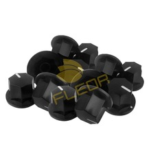 NEW 20pcs Black Vintage Guitar Bass AMP Amplifier Knobs Effect Pedal Knobs Big for Tone Control