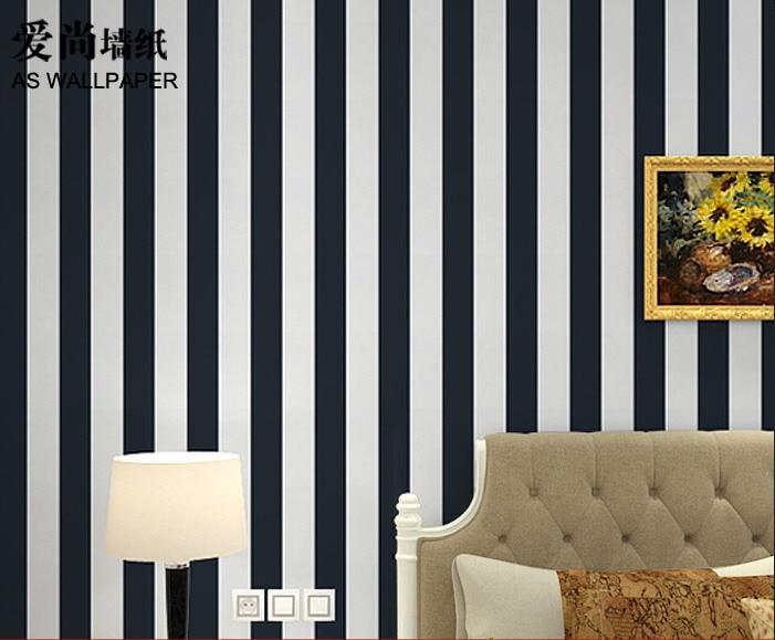 Modern black and white stripe living room wallpaper<br><br>Aliexpress