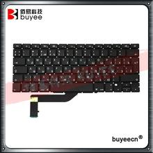 "NEW 15"" Laptop A1398 Russian Keyboard For MacBook Retina Pro A1398 RU Layout Version Keyboards Replacement Tested OK"
