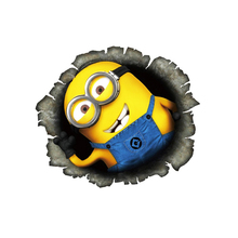 OTOKIT 3D Despicable Me Minions Cute Funny Cartoon Glue Sticker Car Decal Cover Waterproof Reflective Fuel Tank Auto Car Sticker