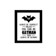 HOT 3D CARTOON Batman Superman Comics Wall Sticker Art Decals Room Kid Decor Canvas Print Wallpaper Qoute Proverbs NO FRAME