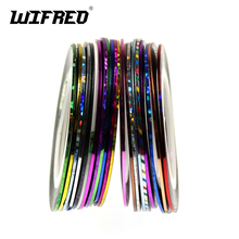 Tinsel-Tape Rod Bulding Holographic Gold Fly-Tying Flashabou-Line Backing for Glue 16pcs-Color