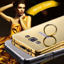 Buy Phone Case Samsung Galaxy E5 E5000 E500F Bling Metal Aluminum Frame Bumper Mirror Surface Back Cover Cases Galaxy E 5 for $4.13 in AliExpress store