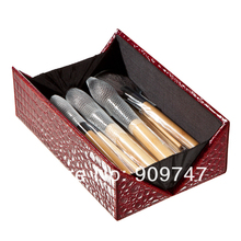 2013 new !! HOT,Professional 24 make up Brush tools Make up Toiletry Kit Wool Brand Makeup Brush Set with top bamboo box