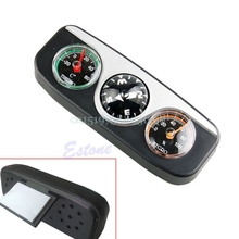 3in1 Guide Ball Car Boat Vehicles Auto Navigation Compass Thermometer Hygrometer#T518#